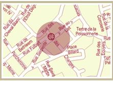 Plan d'accès Picoterie Restaurant Crêperie